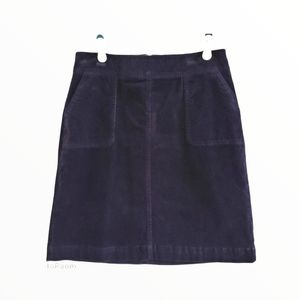 Talbot's Navy Courderoy Skirt